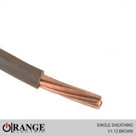 Orange Single Sheathing Wire Brown 1000M