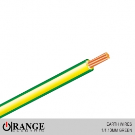 Orange Earth Wires Green 100M