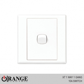 Orange X7 1 Way 1 Gang 10A Switch