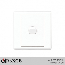 Orange X7 1 Way 1 Gang 10A Switch - CM