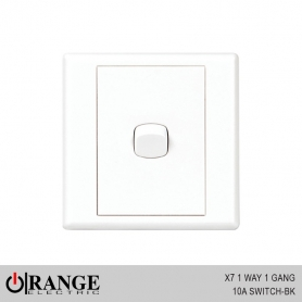 Orange X7 1 Way 1 Gang 10A Switch - BK