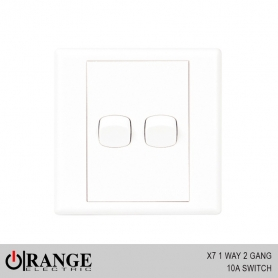 Orange X7 1 Way 2 Gang 10A Switch