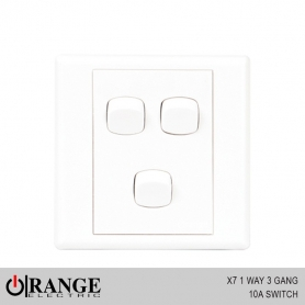 Orange X7 1 Way 3 Gang 10A Switch