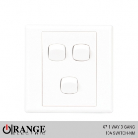 Orange X7 1 Way 3 Gang 10A Switch - NM