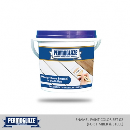 Permoglaze Water Base Enamel Paint Color Set 02 (For Timber & Steel)