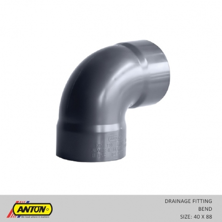 Anton Drainage Fittings - DR/Bend 40 x 88