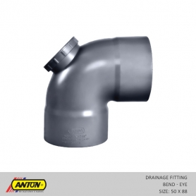 Anton Drainage Fittings - DR/Bend 50 x 88 Eye
