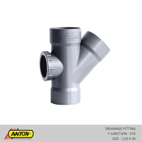 Anton Drainage Fittings - DR/Y - Jun 110 x 45 Eye