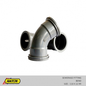 Anton Sewerage Fittings - SW/Bend 110 x 22 RR