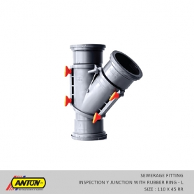Anton Sewerage Fittings - SW/INS Y JN L 110 x 45 RR