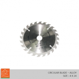 Wood Cutting Circular Saw Harden Alloys Steel (4 x 24)