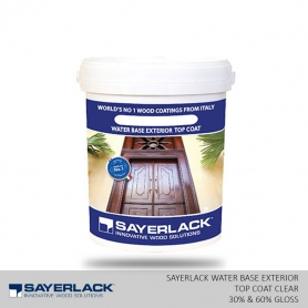 Water Base Exterior Top Coat Clear  (30% & 60% Gloss)