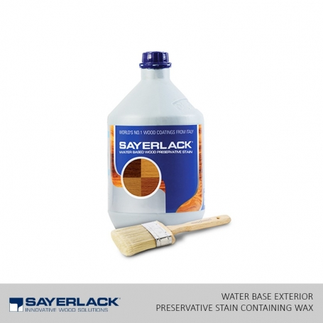 Water Base Exterior Preservative Stain Containing Wax