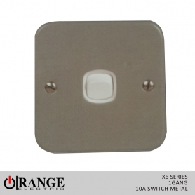 Orange X6 1 Way 1 Gang  10 A Switch Metal