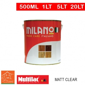 Milano Pu Top Coat Lacquer Matt Clear