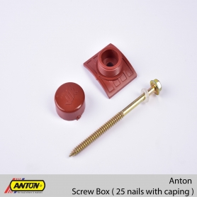 Anton Screw Box ( 25 Nails with Caping )