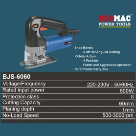Jig Saw, 600W, 60mm