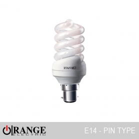 Orange CFL Full Spiral Pin Type