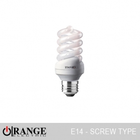 Orange CFL Full Spiral Screw Type