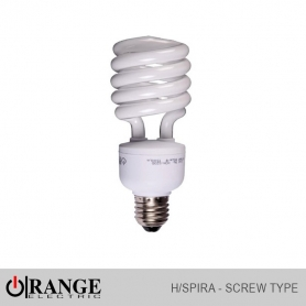 Orange CFL H/Spiral Screw Type W/W