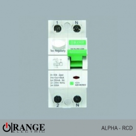 Orange RCD Alpha 2 Pole 40A 30mA - GY