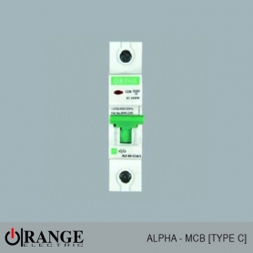 Orange MCB Alpha 1 Pole Type - C