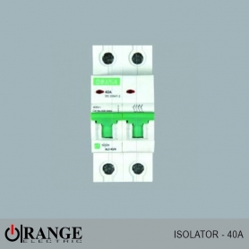 Orange Isolator Alpha 2 pole 40A - GY