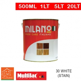 Milano Pu Top Coat Lacquer 30 White (Stain)