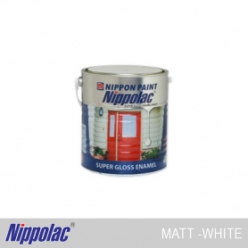 Nippolac Enamel Matt White & Black