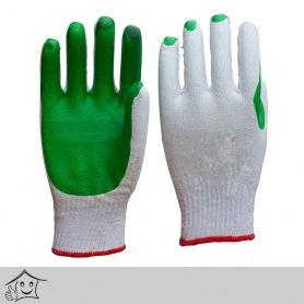Rubber Coated Heavy Duty Green Gloves