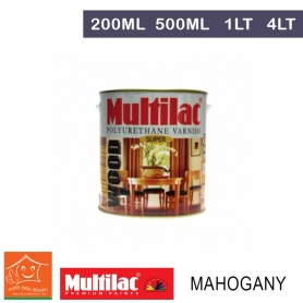 Multilac Polyurethane Varnish - Mahogany